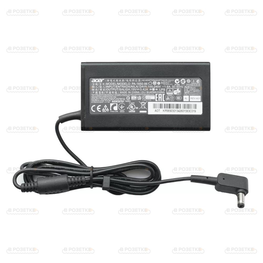 Блок питания (зарядка) для ноутбука Acer 19V 3.42A 65W (5.5x1.7)