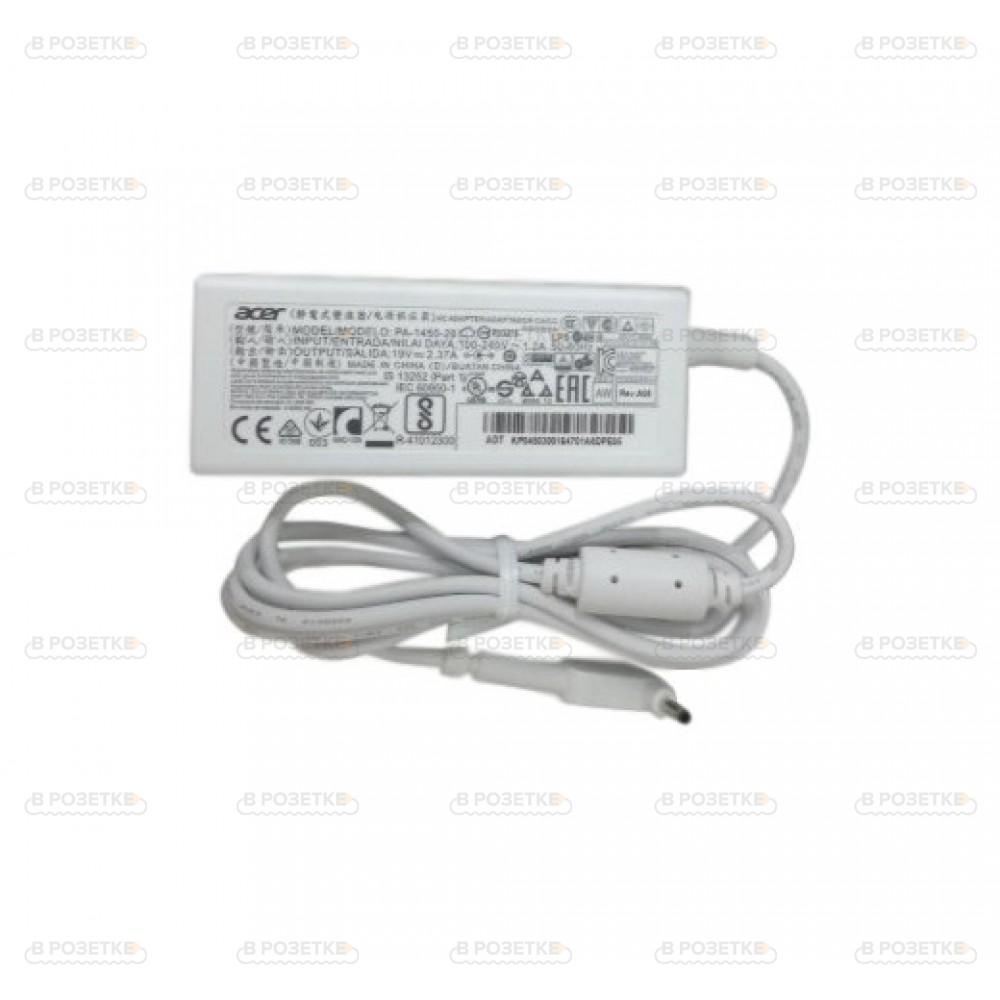 Блок питания для ноутбука Acer S7-191, S7-391 (ADP-65VH D) белый 19V 3.42A 65W (5.5x1.7)