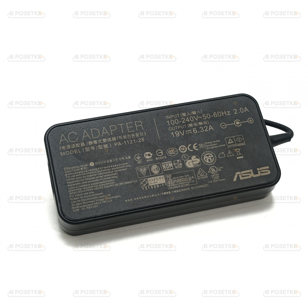 Блок питания для монитора Asus 19V 6.32A 120W (5.5x2.5) (Slim)