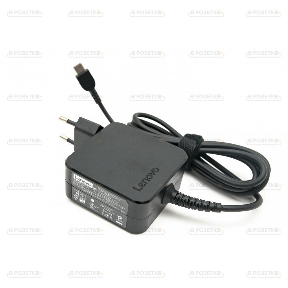 Блок питания для ноутбука Lenovo USB Type-C 45W (квадратный)