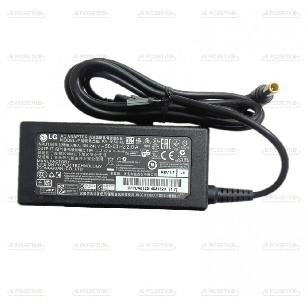 Зарядное устройство для монитора LG 19V 3.42A 65W (6.5x4.4)  DA-65G19