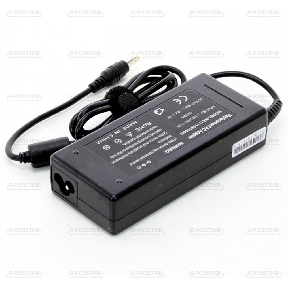 Адаптер блок питания для монитора 12V 6A 72W (5.5x2.5)