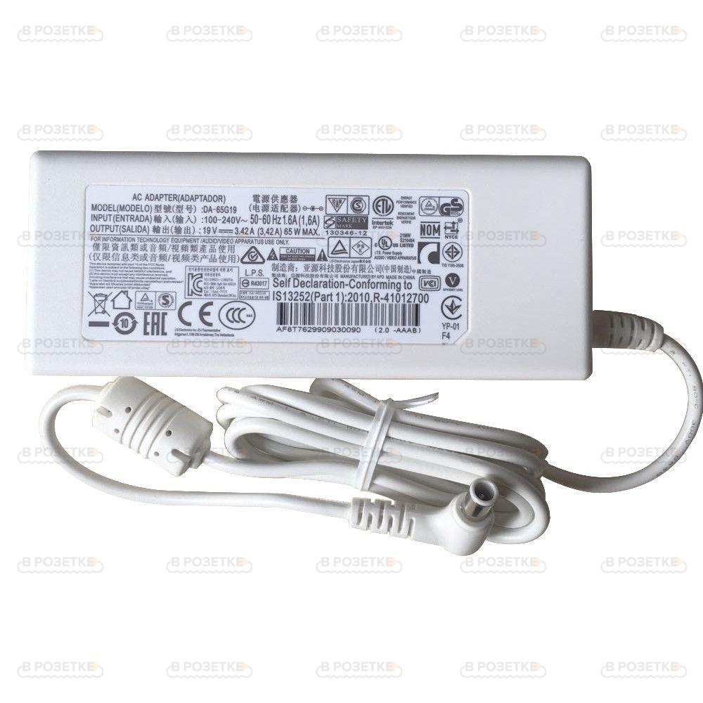 Блок питания для монитора LG 19V 3.42A 65W (6.5x4.4)