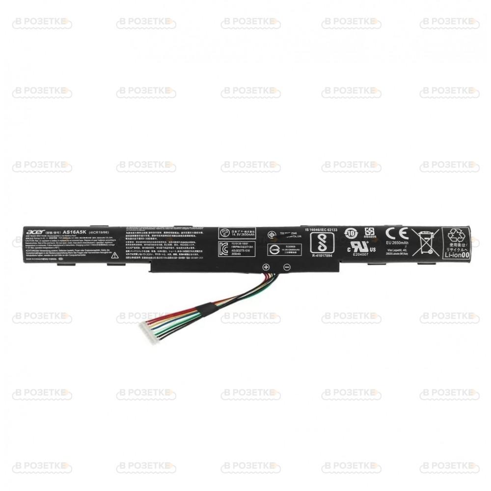 Аккумулятор AS16A5K для ноутбука Acer Aspire E-15, E5-475, E5-523G, E5-576, F5-573T, K50-10, E5-553, F5-573, E5-575G, E5-774G, F5-771T, K50-20, E5-523 ( 2650mah)