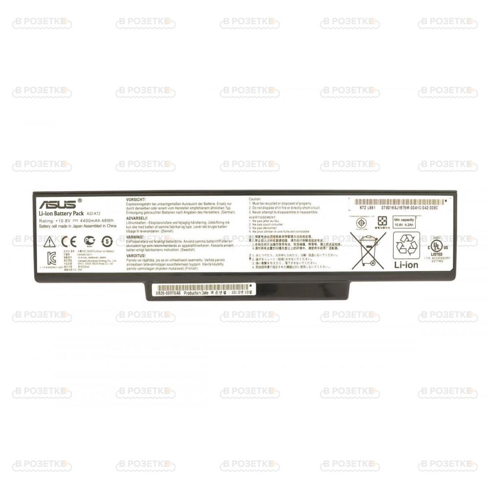 Аккумулятор A32-K72  для ноутбука Asus K72, K73, N71, N73, X77 (4400mah)